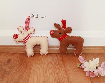 Reindeer Decorations - Felt