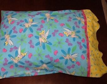 Tinker bell standard pillowcase