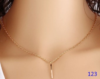 Necklace women trend fashion spring / summer elegant PENDANT chain links metal Golden of great quality