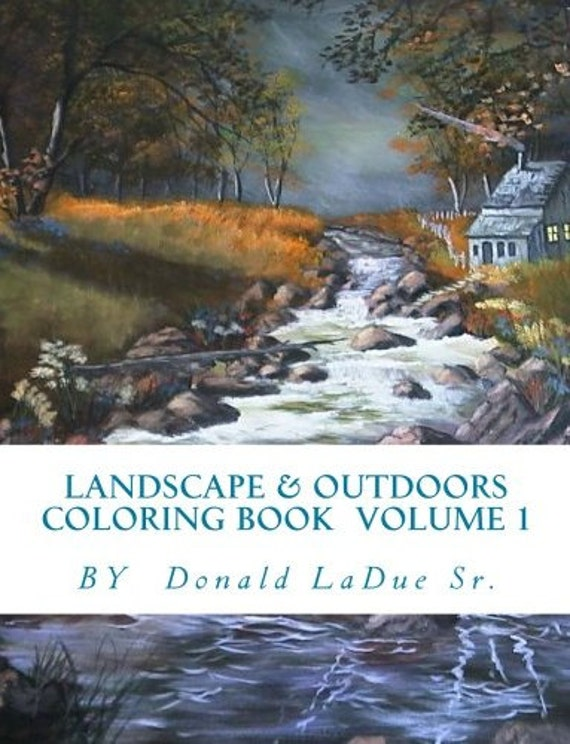 Details Landscape And Outdoors Country Downloadable Adult Coloring Book PDF