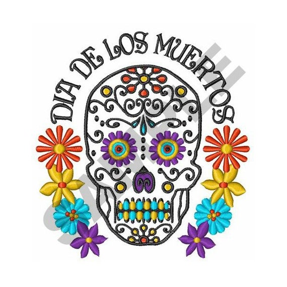 day of the dead machine embroidery designs