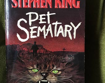 Pet Sematary by Stephen King 1984 paperback