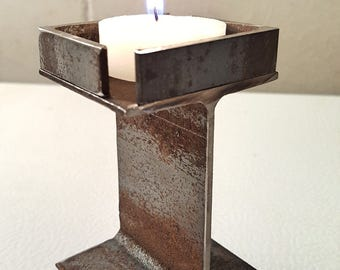 Upcycled candle holder, metal candle holder, repurposed votive candle holder