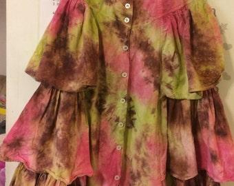 Vintage tie dye skirt