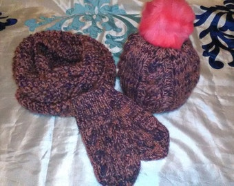 Set-hat, scarf and gloves