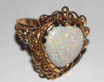 Large Gold Toned Heart Ring