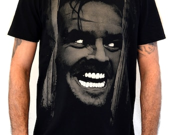"Mens T-shirt ""SHINING Jack Nicholson"" Water Colors Screen Print"