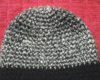 Mens heavyweight hat  black and grey