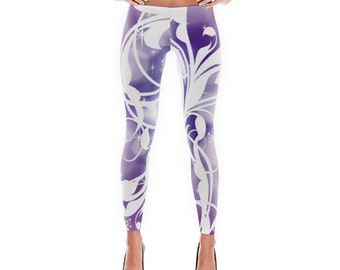 Purple Ice Printed Leggings/Capris