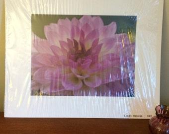 Original photography on canvas flower nature