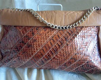 Jane Shilton vintage 1970s snakeskin handbag made in England