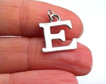 One Letter E, Alphabet Charm, E, Letter E