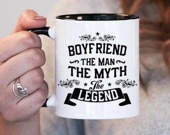 boyfriend the man the myth the legend boyfriend gift boyfriend birthday boyfriend mug