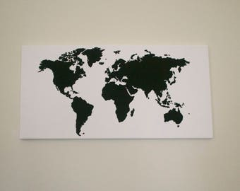 Original World Map Painting