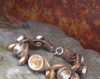 Bracelet Tentacles, in bronze and silver.