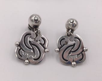 Hector Aguilar Vintage Mexican Sterling Silver Earrings