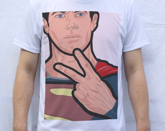 Superman Super Fingers T shirt
