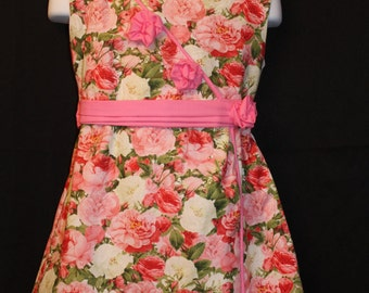 Oriental style floral print dress easter