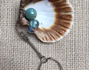 Sea shell key ring