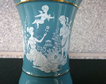 Handmade blue italian vase