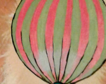 pink/green hot air balloon