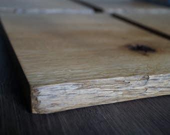 Breakfast Board, cutting board, serving Board oak rustic 4 piece