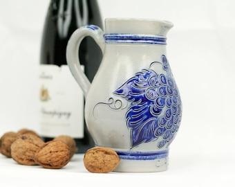 Vintage Wine pitcher – wine Jug - stoneware – Betschdorf Alsace – Remmy pottery