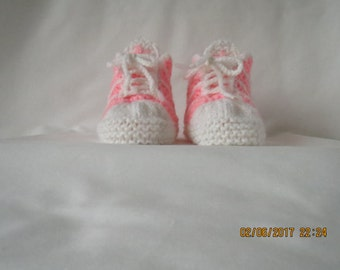 Baby Booties Adidas PINK AND WHITE
