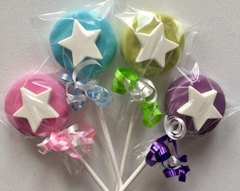 Fairy princess wand Oreo cookie pop / fairy godmother / tinkerbell wand / party favor / other color options / one dozen (12)