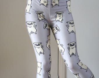 Pug Leggings - Pugs on a grey screen - For every Pug Lover out there!