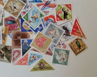 Triangle World Stamps / Diamond Postage Stamps from Around the World