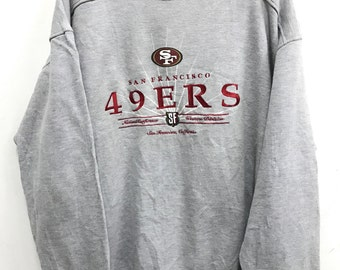 Vintage  San Francisco 49ers NFL Football Sweatshirt Rare 49ers Starter Jacket Big sz Jacket sz X Large