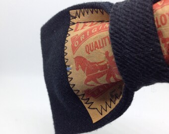 Upcycled Levi's Denim Bow Tie |  Handmade using Upcycled Clothing | Clip-On Bow Tie