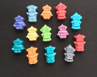 Robot Crayons (9 Robots)- Birthday Gift- Easter basket gift