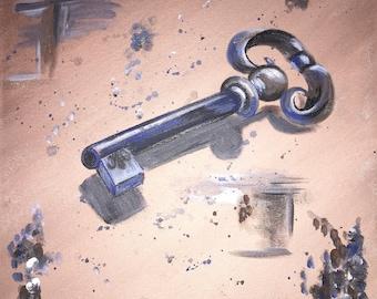 Original acrylic key painting