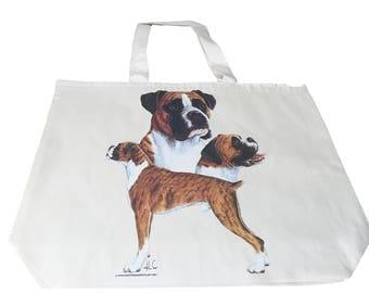 Boxer Dog  Printed Bag  100% Cotton Tote  Shopper Bag For Life