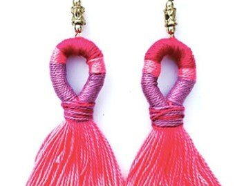 Valentines Tassel Earrings Fringe Earrings