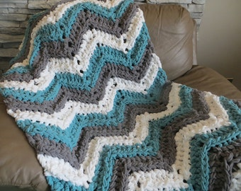 Tassel Chevron Throw