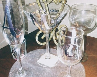 Wine glasses assorted talored to your nneeds custom make to your style..