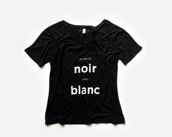 Always Noir And Blanc Womens Graphic Tee