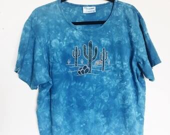 Vintage 90's XL Desert Scene T Shirt