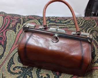 Handbag 1930s-1950s Leather Henner France