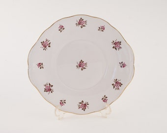 Queen Anna Bone China Cake Plate for High Tea c. 1959