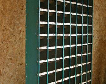 Vintage Industrial Metal Pigeon Holes