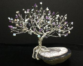 Large Black Agate Crystal Tree