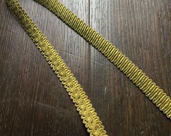 Green / Yellow Upholstery Braid, Decorative Trim