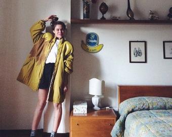 Vintage mustard and Leopard print comforter