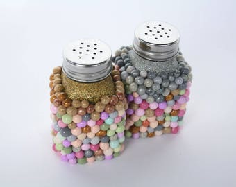 Decorative Polymer Clay Salt and Pepper Shakers
