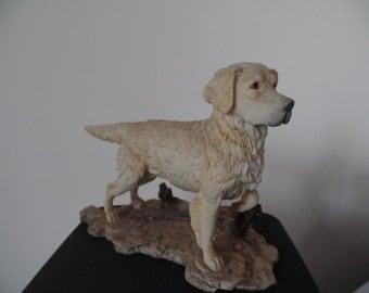 Nature's Heritage hand painted golden retriever figurine
