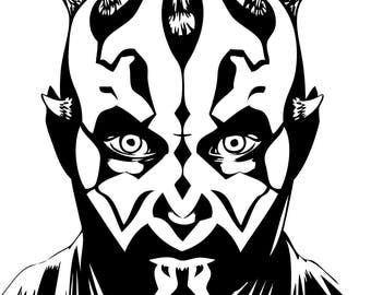 Darth Maul Svg